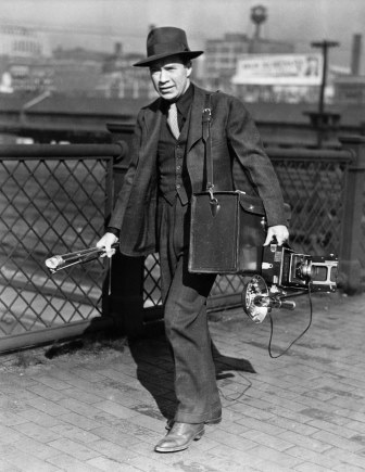 Ed Clark on Assignment, circa 1930s. Copyright Ed Clark. The Meserve-Kunhardt Foundation.